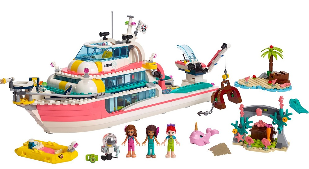 LEGO Friends Rescue Mission Boat 41381 2019 hottest holiday toys kids gifts