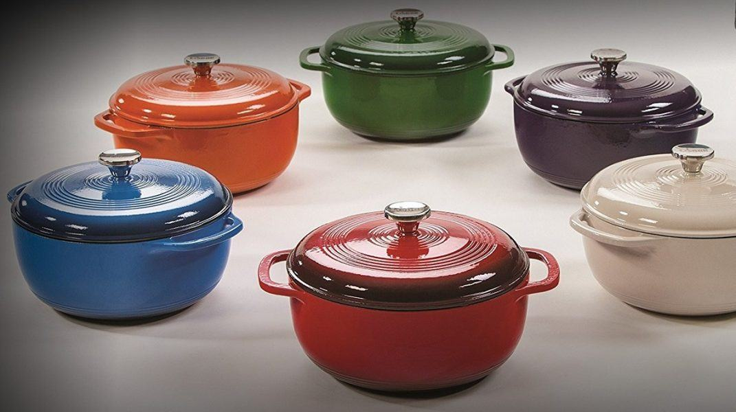 Lodge 6 Quart Enameled Cast Iron Dutch Oven 2019 hottest holiday kitchen cook gifts