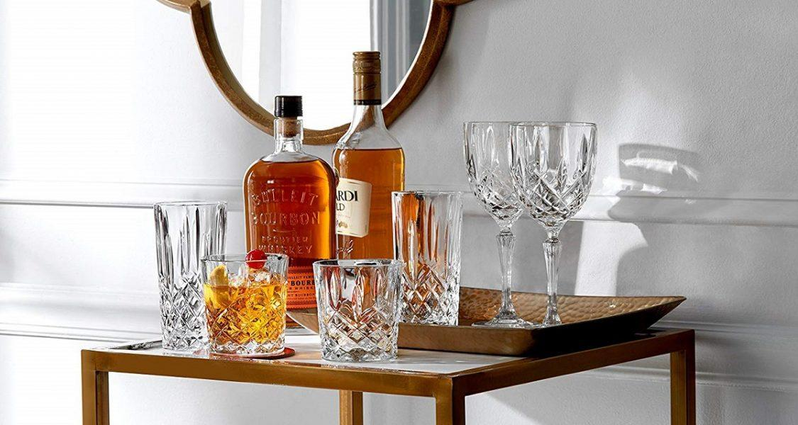 Marquis by Waterford Markham 11 Ounce Double Old Fashioned Glasses Pair and Square Decanter Set 2019 hottest glassware gifts