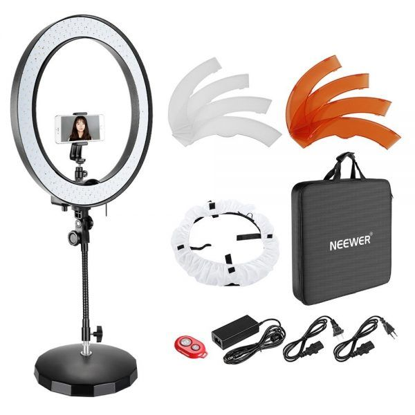Neewer 18-inch Outer Dimmable SMD LED Ring Light Lighting Kit 2019 hottest holiday camera gifts