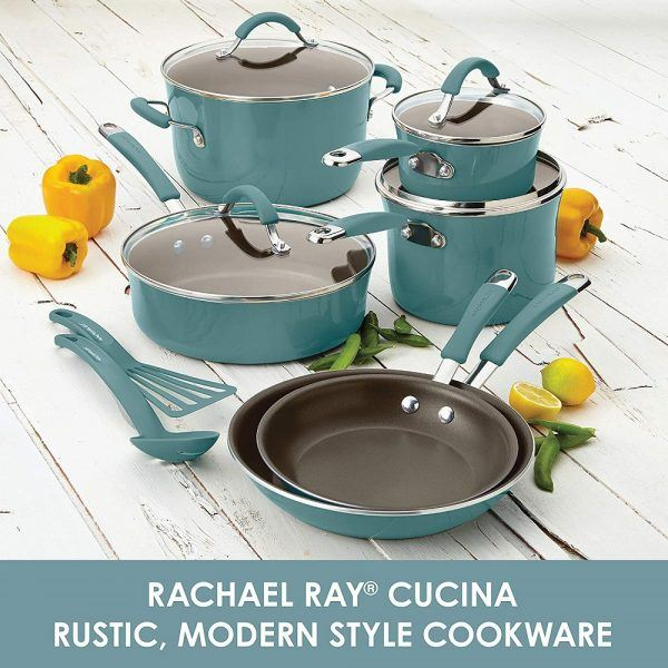 Rachael Ray 16344 Cucina Nonstick Cookware Pots 2019 hottest holiday kitchen cook gifts