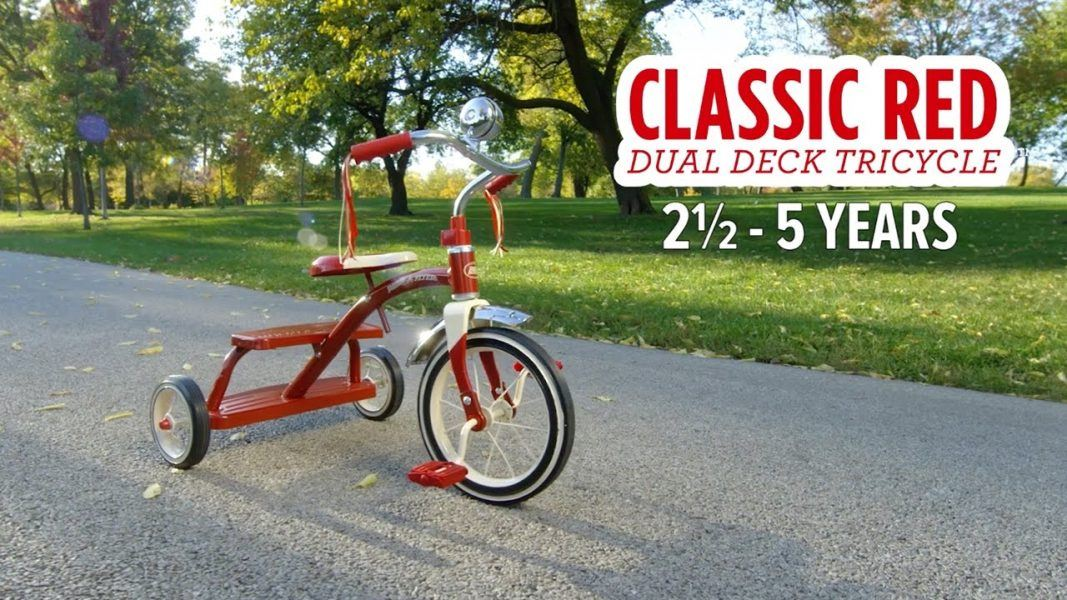 Radio Flyer Classic Red Dual Deck Tricycle 2019 hottest holiday toy gifts