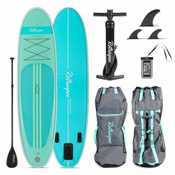 Retrospec Weekender 10' Inflatable Stand Up Paddleboard 2019 hottest holiday sports fitness gifts