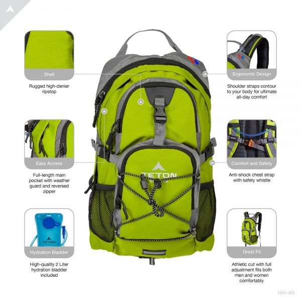 TETON Sports Oasis 1100 Hydration Pack 2019 hottest holiday sport fitness gift ideas
