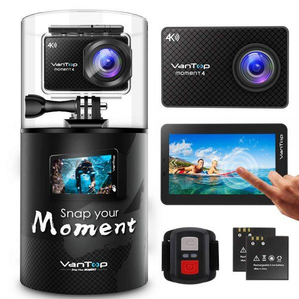 VanTop Moment 4K Sports action camera accessories 2019 hottest holiday gift ideas