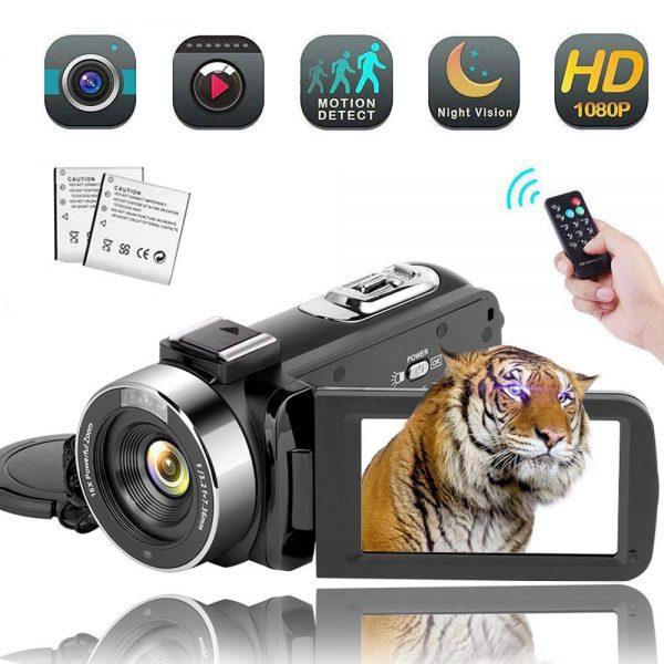 Video Camera Camcorder Digital YouTube Vlogging Camera Recorder kicteck Full HD 2019 hottest holiday gifts