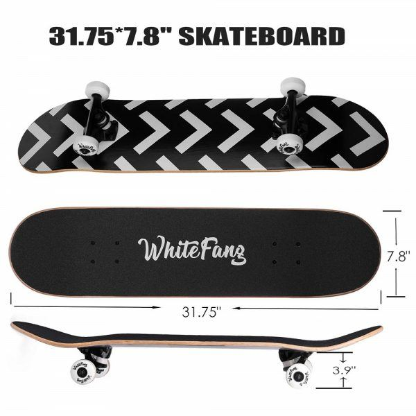 WhiteFang Skateboards for Beginners 2019 hottest holiday sports fitness gifts