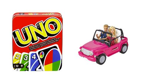 barbie hot wheels uno games deals 2019
