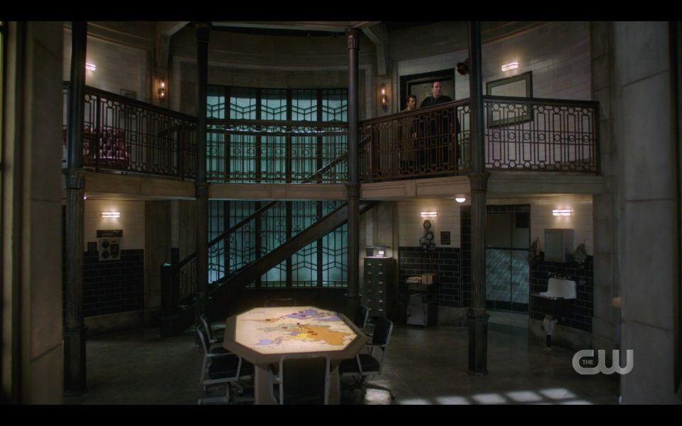 Castiel brings Sergei to bunker with Men of Letters SPN