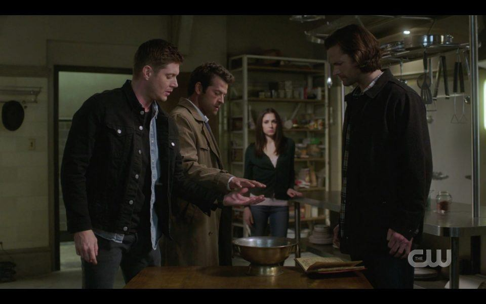 Castiel heals Dean Winchester hand wound SPN