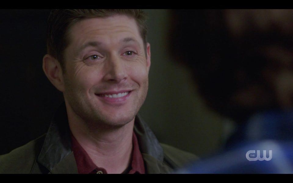 Dean Winchester smiling wide for Brother Sam SPN