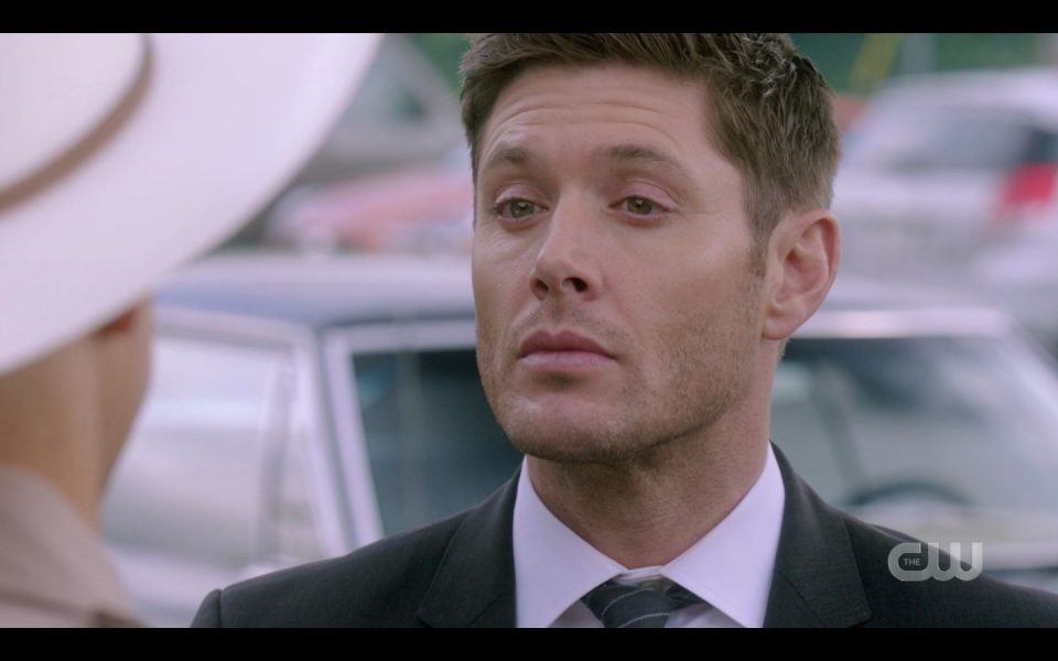Jensen Ackles hamming it up with Sheriff SPN 1507