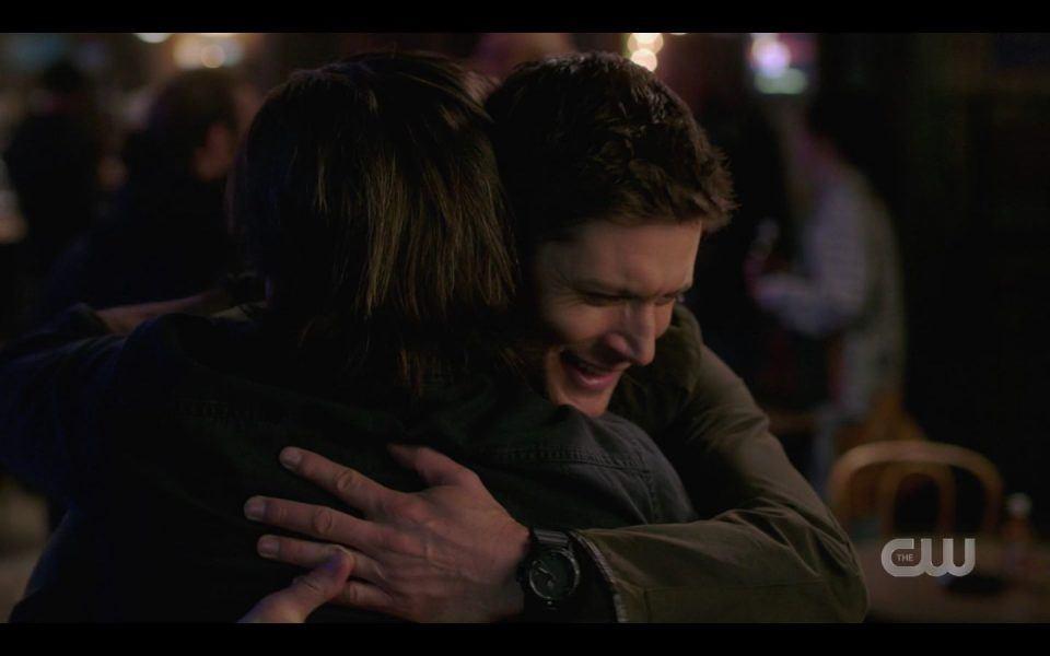 Jensen Ackles hugging rubbing Christian Kane hard for SPN