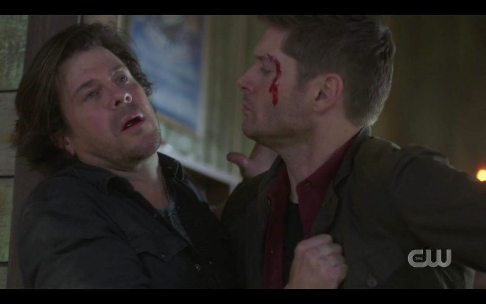Lee Christian Kane asks Dean why he cares so much about him SPN 1507