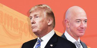 amazon jeff bezos take on donald trump 2019 images