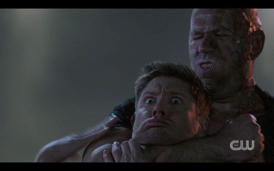 Maul choking Dean Winchester out for Garth SPN Heroes Journey