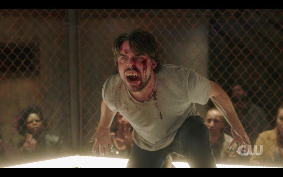 SPN 1510 opening cage match with possessed man Sam