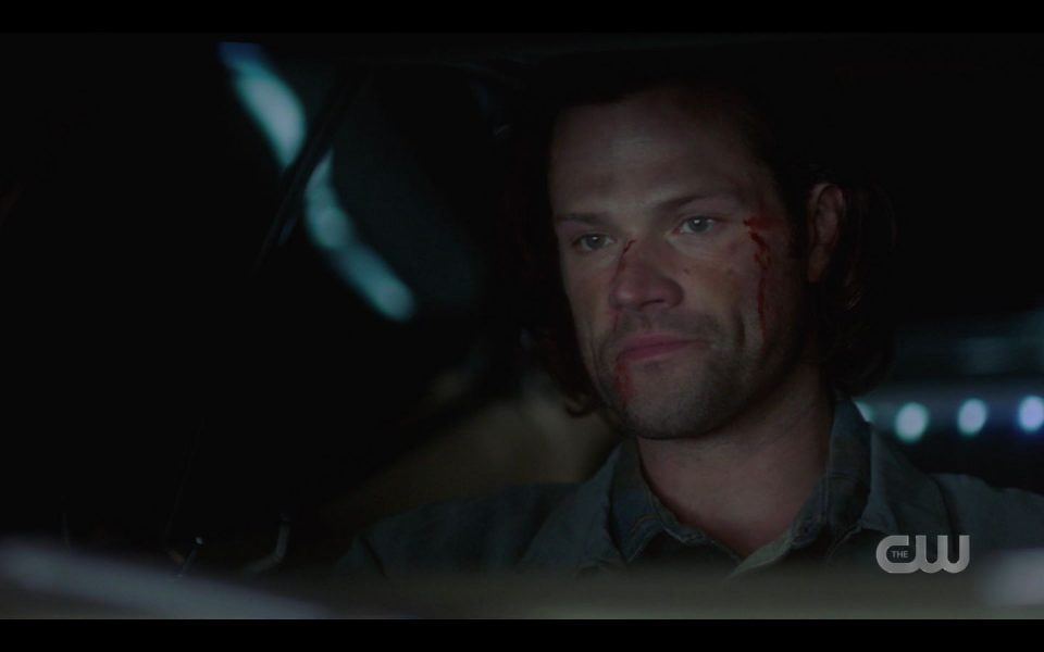 Sam Winchester driving having turned magic watch forward SPN