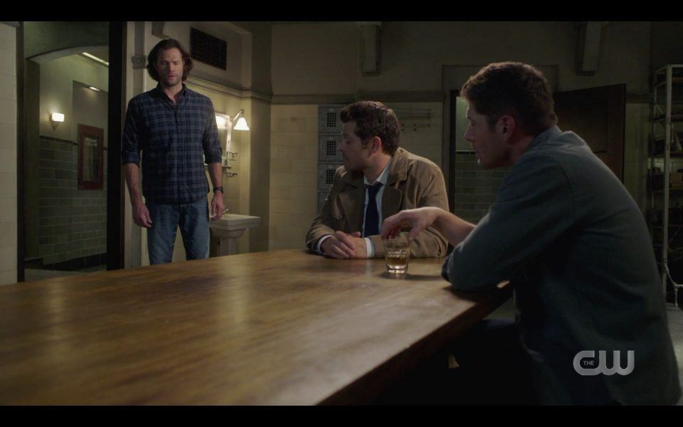 Sam Winchester joins Cas and Dean in Kitchen SPN 1509