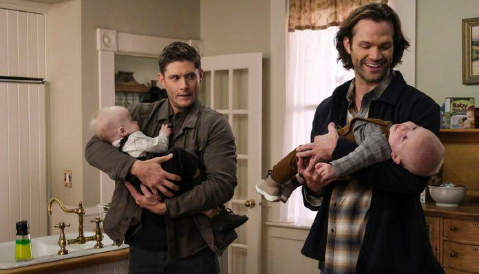 supernatural 1510 heroes journey winchester brothers holding babies cute
