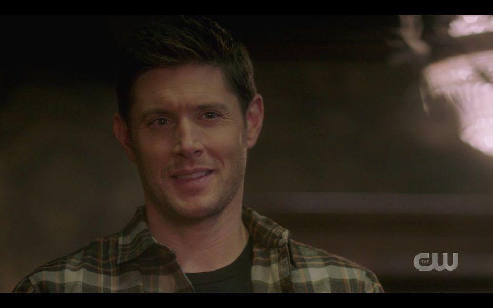 Dean Winchester smirking at sexy cowboy SPN