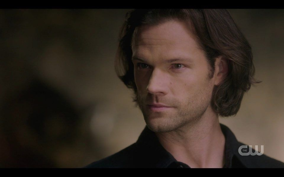 Jared Padalecki clenching jaw for Dean