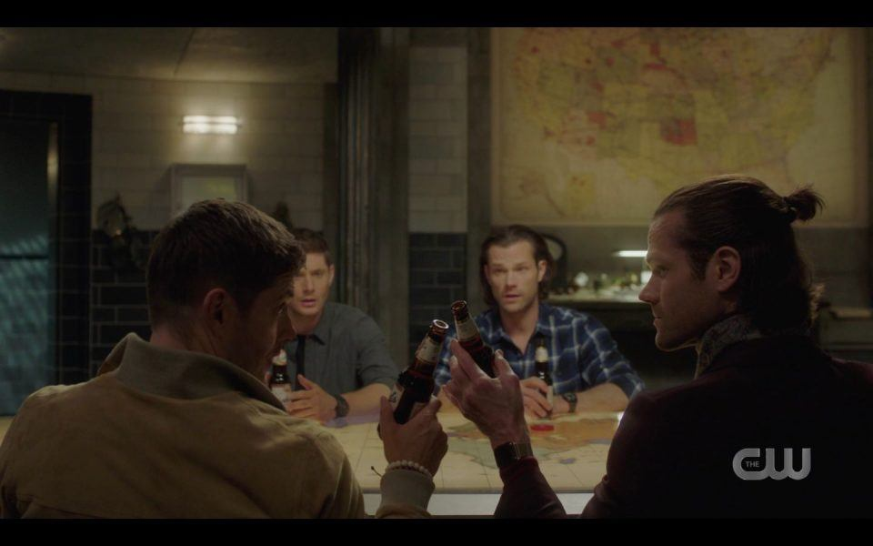AU Sam Dean clink beers to John Winchester SPN