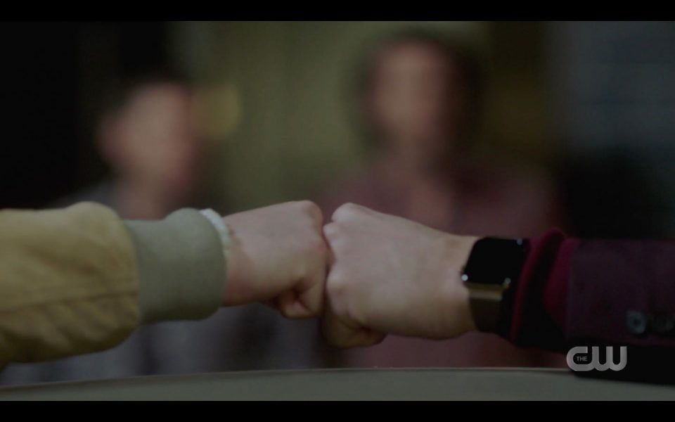 AU Sam and Dean winchester fist bump each other Jensen Ackles Jared Padalecki SPN