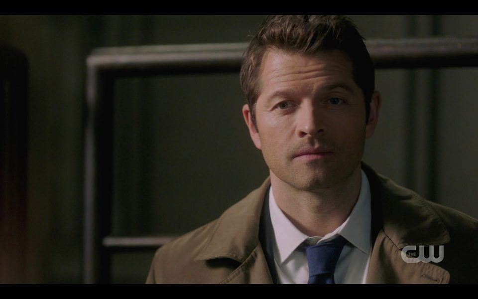 Castiel Misha Collins with Jody sweet on Claire