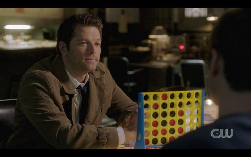 Castiel playing Connect Four with Jack SPN
