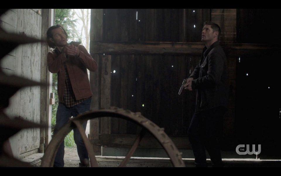 Dark Kaia ambushes Sam Dean Winchester in Barn SPN