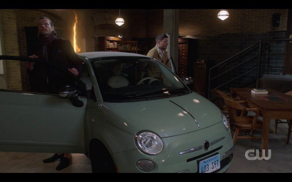 Gayed up AU Sam Dean Winchester getting out of VW bug car