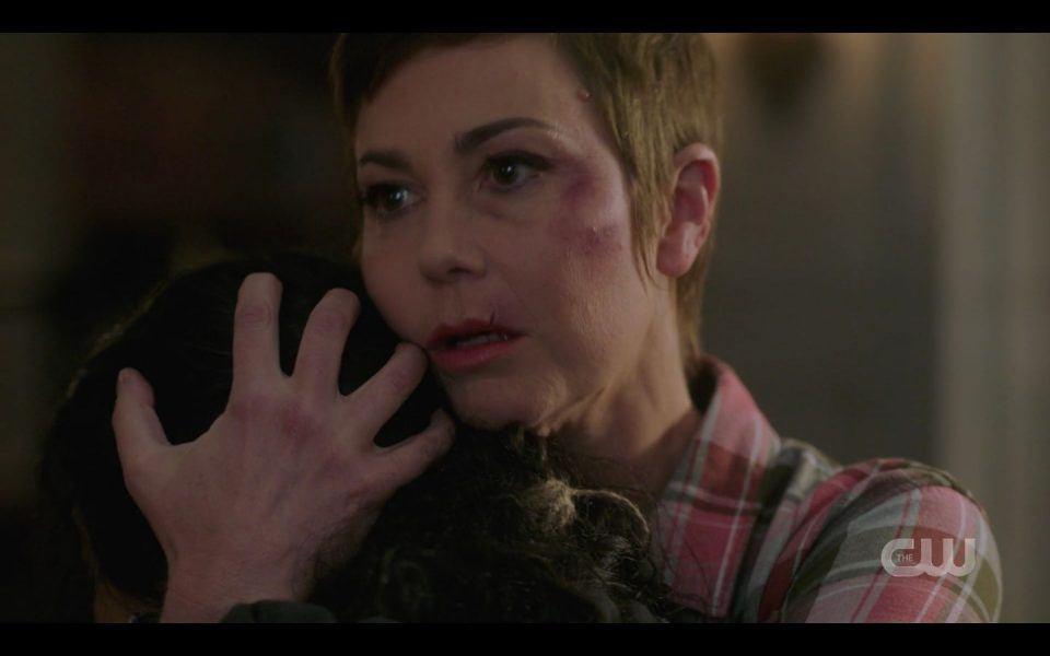 Jody emotional hugging Kaia after reunion SPN