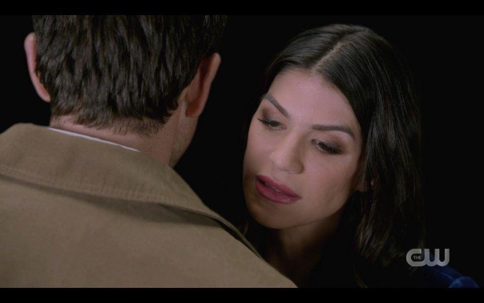 Ruby hugs Castiel in the Empty SPN