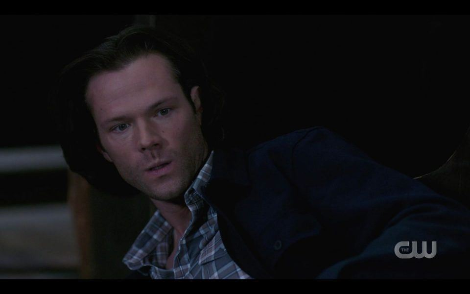 Sam Winchester reacts to hellhounds coming out of church SPN