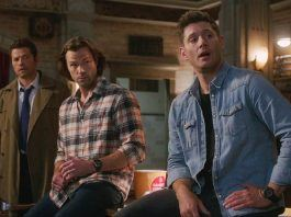Supernatural 1512 Galaxy Brain winchester brothers sitting on castiel mttg