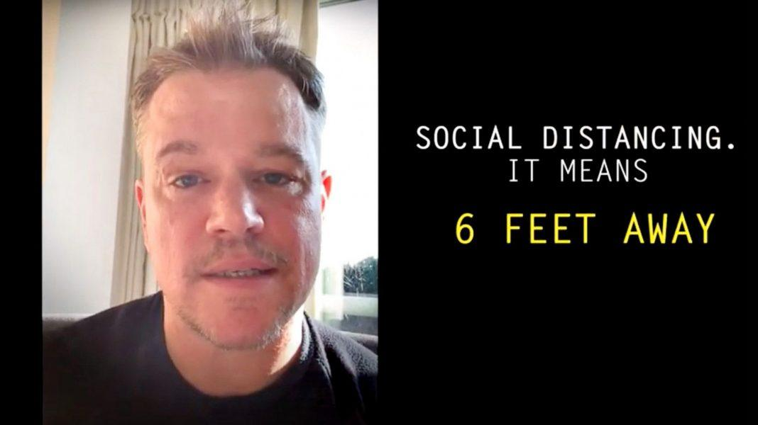 matt damon on coronavirus staying six feet away from others