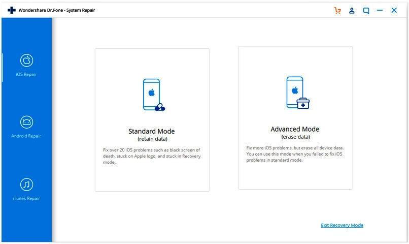 apple iphone ios fix standard vs advanced mode 1403
