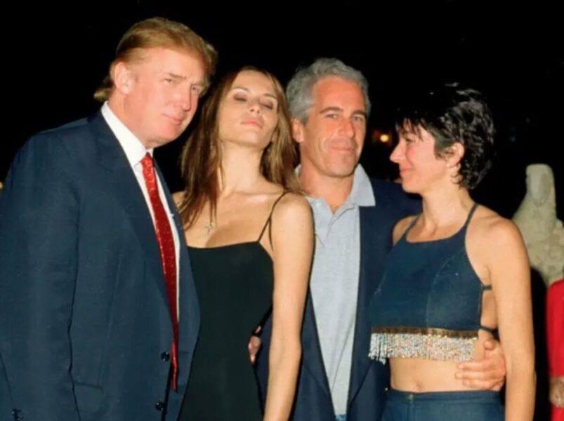 donald trump with Jeffrey Epstein photo