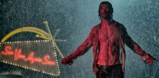 chris hemsworth shirt open for bad times at el royale movie 2018