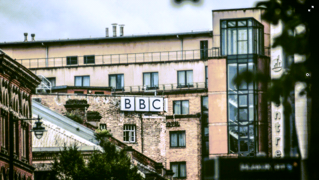 exterior of BBC building in london england