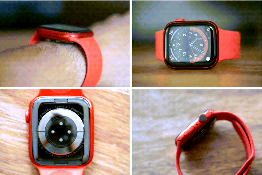 apple watch 6 red band from all angles 2020
