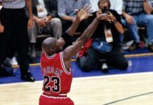 michael jordan 1998 final shot images
