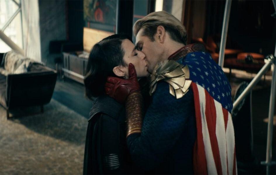 the boys homelander stormfront intense kiss relationship 2020