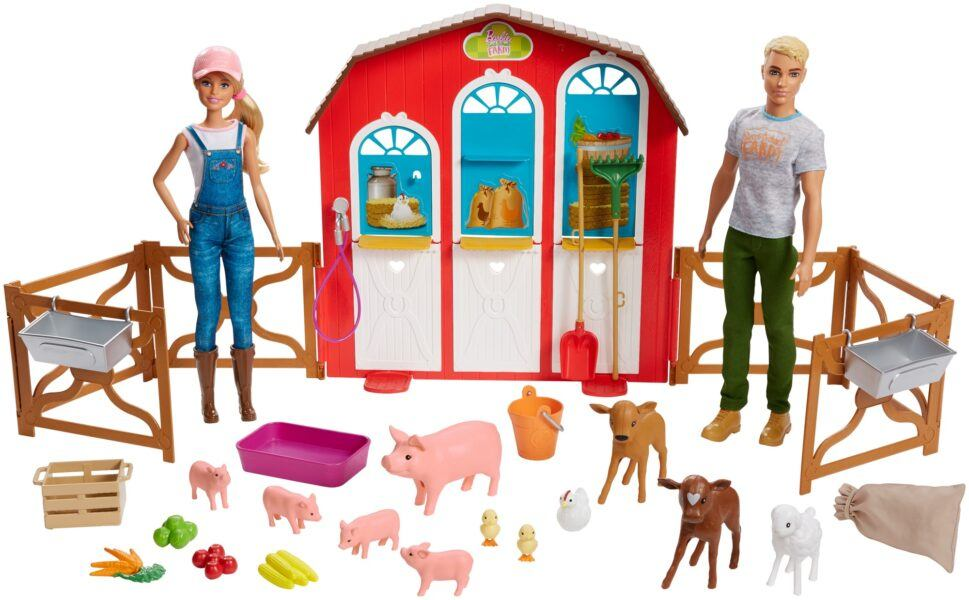 Barbie Sweet Orchard Farm Barn Playset with Barbie and Ken Dolls 2020 hottest kids toys