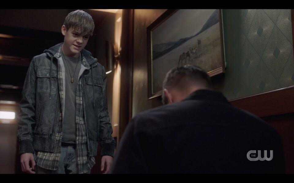 Dean Winchester held hostage by monster disguised as teenage Dean SPN 1516