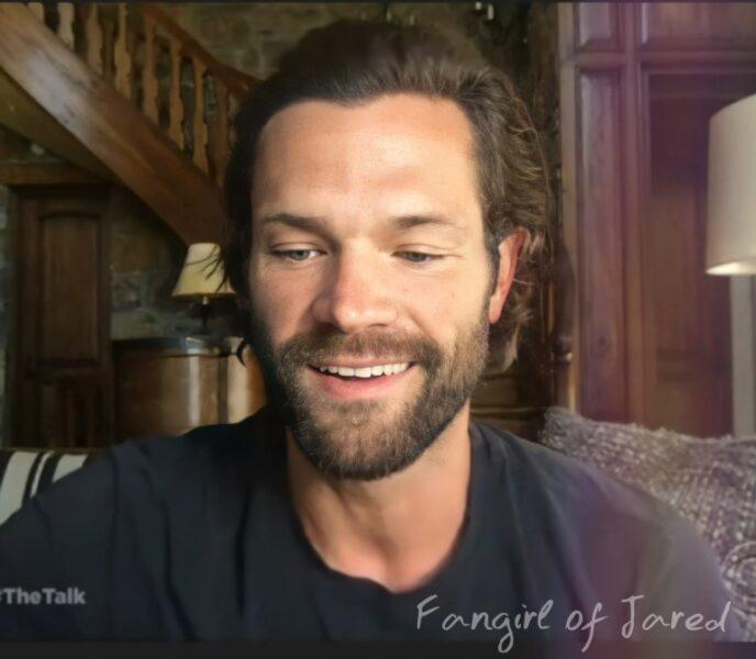 Jared Padalecki smiling scruff with The Talk