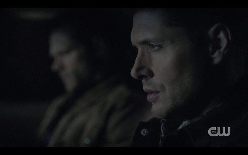 Sam Dean Winchester driving in heavy rain in Baby Supernatural 1516