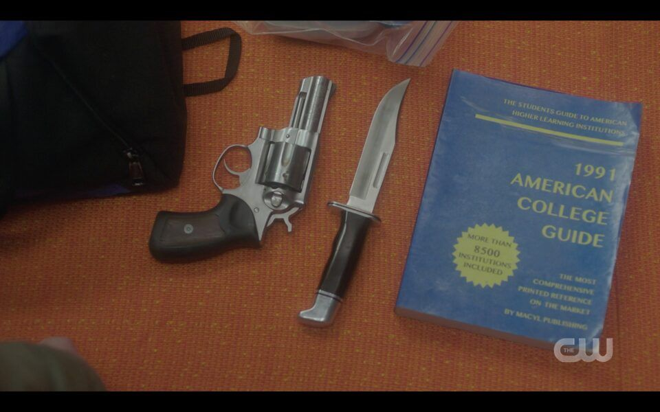 Sam Winchester backpack with gun knife and college book 1516