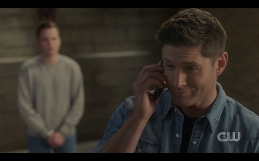 Dean Winchester with Jack telling Sam Mrs Butters is a problem SPN.